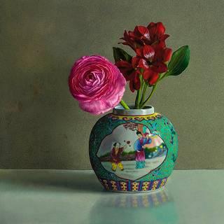 Sehen Sie sich alle Stillleben-Gemälde an, die Sie online in der Galerie Wildevuur kaufen
