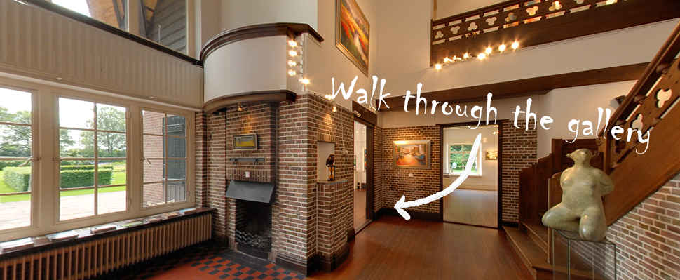 Virtually stroll through gallery wildevuur, the most beautiful gallery of The Netherlands established in a manor.
