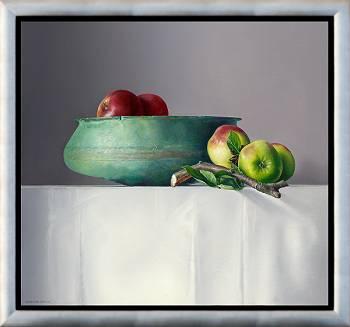Äpfel mit römischer Skala | Stilleben Gemälde von Adriana van Zoest kaufen Sie jetzt online! ✓Sichere Zahlung ✓Kostenloser Versand