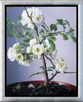 Blühende chinesische Quitte | Stilleben Gemälde von Adriana van Zoest kaufen Sie jetzt online! ✓Höchste Qualität ✓Sichere Zahlung