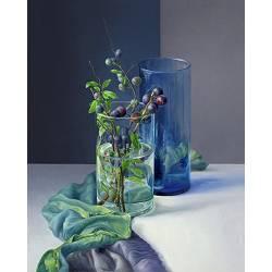 De sleedoorn | stilleven schilderij in olieverf van Adriana van Zoest koopt u nu online! ✓Hoogste kwaliteit ✓Veilig betalen ✓Gratis verzending