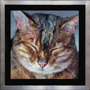 Hermes II | dieren schilderij in olieverf van Adriana van Zoest koopt u nu online! ✓Hoogste kwaliteit ✓Veilig betalen ✓Gratis verzending