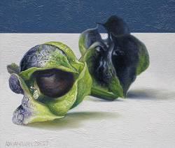 Zegekruid II   stilleven schilderij in olieverf van Adriana van Zoest   Exclusieve kunst online te koop bij Galerie Wildevuur
