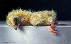 Kuiken | stilleven schilderij in olieverf van Adriana van Zoest | Exclusieve kunst online te koop bij Galerie Wildevuur