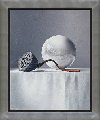 Vijftig tinten paars | stilleven schilderij in olieverf van Adriana van Zoest koopt u nu online! ✓Hoogste kwaliteit ✓Veilig betalen ✓Gratis verzending