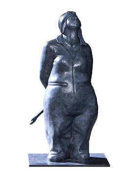 The wind beneath my wings | bronzen beeld van een pilote van Ann Michielsen | Exclusieve kunst online te koop in de webshop van Galerie Wildevuur