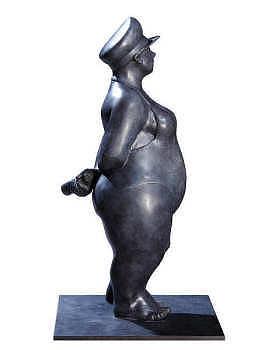 When my ship comes in | bronzen beeld van een kapitein van Ann Michielsen | Exclusieve kunst online te koop in de webshop van Galerie Wildevuur