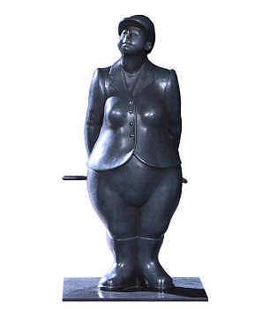 Mon manege a moi | bronzen beeld van een amazone van Ann Michielsen | Exclusieve kunst online te koop in de webshop van Galerie Wildevuur