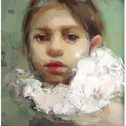 Bloei | model schilderij in mixed-media van Anne-Rixt Kuik | Exclusieve kunst online te koop in de webshop van Galerie Wildevuur