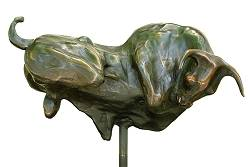 Bullet Proof | animal sculpture in bronze by Anton ter Braak now for sale online! ✓Highest quality & service ✓Safe payment ✓Free shipping