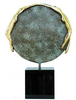 On the edge | model beeld in brons van Anton ter Braak | Exclusieve kunst online te koop in de webshop van Galerie Wildevuur