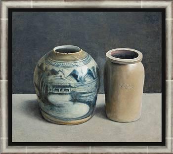 Aardewerk II | stilleven schilderij in olieverf van Chris Herenius | Exclusieve kunst online te koop in de webshop van Galerie Wildevuur