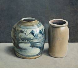 Pottery II | still-life painting in oil by Chris Herenius | Exclusive Dutch Master Art | View and buy the best artworks online now