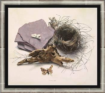 Overgebleven | stilleven schilderij in acrylverf van Chris Herenius | Exclusieve kunst online te koop in de webshop van Galerie Wildevuur
