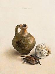 Eenvoudig stilleven | stilleven schilderij in eitempera van Chris Herenius | Exclusieve kunst online te koop in de webshop van Galerie Wildevuur
