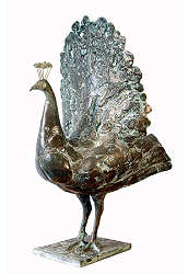 Peacock | animal sculpture in bronze by Coba Koster now for sale online! ✓Highest quality & service ✓Safe payment ✓Free shipping