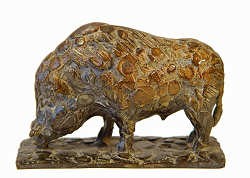 Wild boar II | animal sculpture in bronze by Coba Koster now for sale online! ✓Highest quality & service ✓Safe payment ✓Free shipping