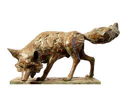 Fox | animal sculpture in bronze by Coba Koster now for sale online! ✓Highest quality & service ✓Safe payment ✓Free shipping