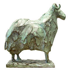 Baa-lamb | animal sculpture in bronze by Coba Koster now for sale online! ✓Highest quality & service ✓Safe payment ✓Free shipping