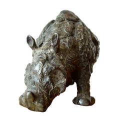 Rhino | animal sculpture in bronze by Coba Koster now for sale online! ✓Highest quality & service ✓Safe payment ✓Free shipping