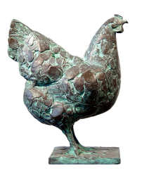 Barnevelder chicken | animal sculpture in bronze by Coba Koster now for sale online! ✓Highest quality & service ✓Safe payment ✓Free shipping