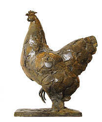 Sable chicken | animal sculpture in bronze by Coba Koster now for sale online! ✓Highest quality & service ✓Safe payment ✓Free shipping