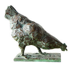 Pecking chicken | animal sculpture in bronze by Coba Koster now for sale online! ✓Highest quality & service ✓Safe payment ✓Free shipping
