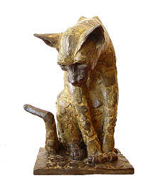 Siamese | animal sculpture in bronze by Coba Koster now for sale online! ✓Highest quality & service ✓Safe payment ✓Free shipping