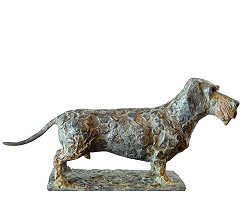 Dachshund | animal sculpture in bronze by Coba Koster now for sale online! ✓Highest quality & service ✓Safe payment ✓Free shipping
