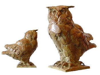 Oehoe | bronzen beeld van een uil van Coba koster koopt u nu online! ✓Hoogste kwaliteit & service ✓Veilig betalen ✓Gratis verzending