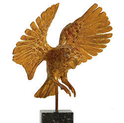 Screech-owl flying | animal sculpture in bronze by Coba Koster now for sale online! ✓Highest quality & service ✓Safe payment ✓Free shipping
