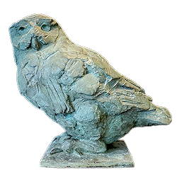 Snowowl | animal sculpture in bronze by Coba Koster now for sale online! ✓Highest quality & service ✓Safe payment ✓Free shipping