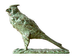 Prairie falcon | animal sculpture in bronze by Coba Koster now for sale online! ✓Highest quality & service ✓Safe payment ✓Free shipping