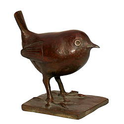 Wren | bird sculpture in bronze by Coba Koster now for sale online! ✓Highest quality & service ✓Safe payment ✓Free shipping