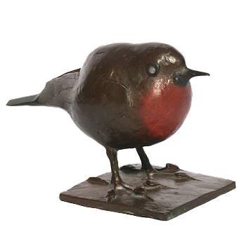 Roodborstje | bronzen beeld van een vogeltje van Coba koster koopt u nu online! ✓Hoogste kwaliteit & service ✓Veilig betalen ✓Gratis verzending