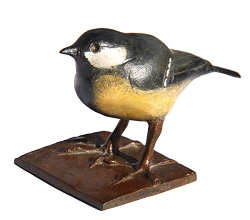 Great Tit | animal sculpture in bronze by Coba Koster now for sale online! ✓Highest quality & service ✓Safe payment ✓Free shipping