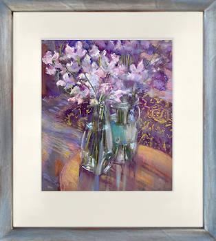 Lathyrus | stilleven schilderij in pastel van Corry Kooy koopt u nu online!Hoogste kwaliteit & serviceVeilig betalenGratis verzending