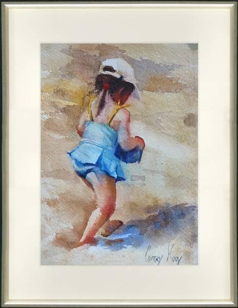 Mädchen am Meer