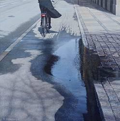 Reflections II | stadsgezicht schilderij in olieverf van Daniel Goldenberg | Exclusieve kunst online te koop in de webshop van Galerie Wildevuur