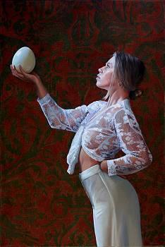 Fauna | model schilderij in olieverf van Dirk Bal | Exclusieve kunst online te koop in de webshop van Galerie Wildevuur
