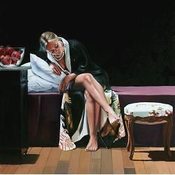 Persephone | model schilderij in olieverf van Dirk Bal | Exclusieve kunst online te koop in de webshop van Galerie Wildevuur
