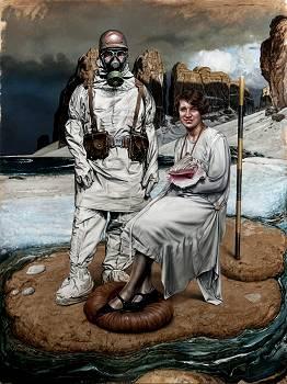Human Behaviour 89 | schilderij in olieverf van Eddy Stevens koopt u nu online! ✓Hoogste kwaliteit & service ✓Veilig betalen ✓Gratis verzending
