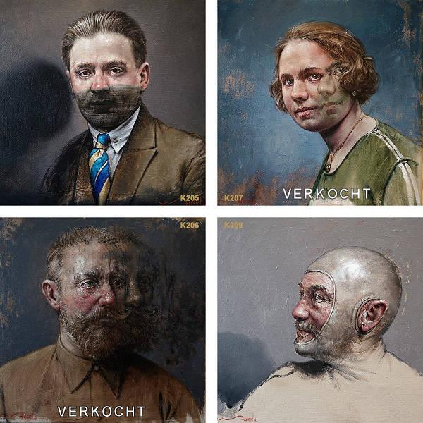 Hedendaags verleden 9 portret schilderijen