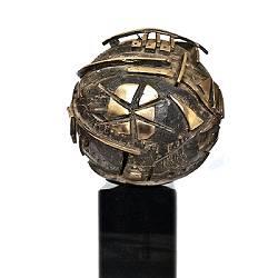 Geologische aarde | natuur beeld in brons van Ernest Joachim koopt u nu online!Hoogste kwaliteitVeilig betalenGratis verzending