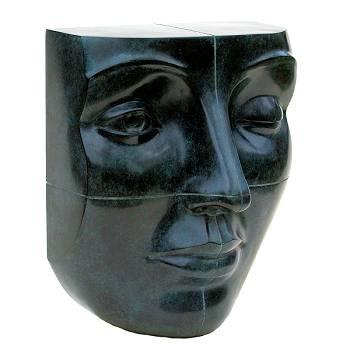 Blockhead | bronzen model beeld van Erwin Meijer | Exclusieve kunst online te koop in de webshop van Galerie Wildevuur