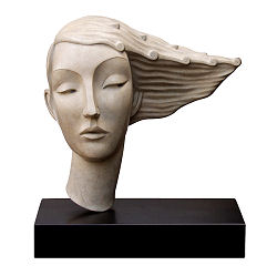 Her wavy hair | model sculpture in bronze by Erwin Meijer | Exclusive Dutch Master Art | View and buy the best artworks online now
