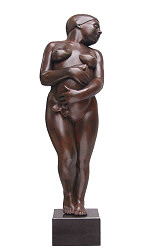 Woman with fish | model sculpture in bronze by Erwin Meijer now for sale online! ?Highest quality & service ?Safe payment ?Free shipping
