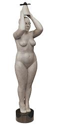 Engel | bronzen beeld van een staande vrouw van Erwin Meijer | Exclusieve kunst online te koop in de webshop van Galerie Wildevuur