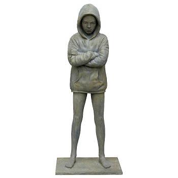 Hoodie | bronzen model beeld van Erwin Meijer | Exclusieve kunst online te koop in de webshop van Galerie Wildevuur