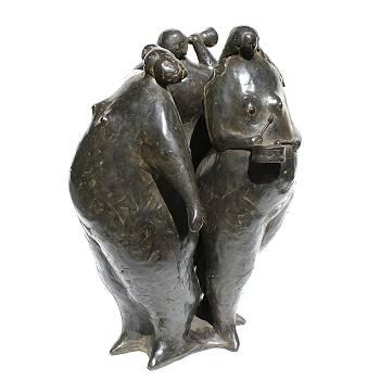 De Golfer | bronzen beeld van Evert van Hemert | Exclusieve kunst online te koop in de webshop van Galerie Wildevuur
